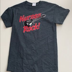 Gildan Nurses rock Gray Tee shirt top small